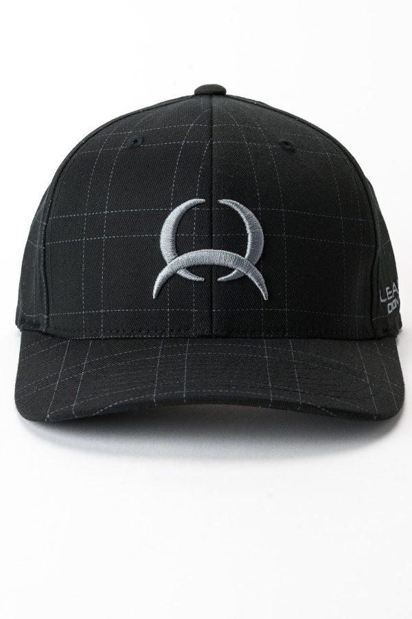 casquette noir rayée logo cinch