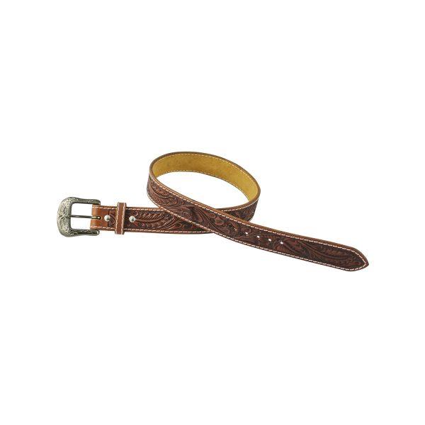 ceinture en cuir avec motif floral pour cavalier western de marque Pool's