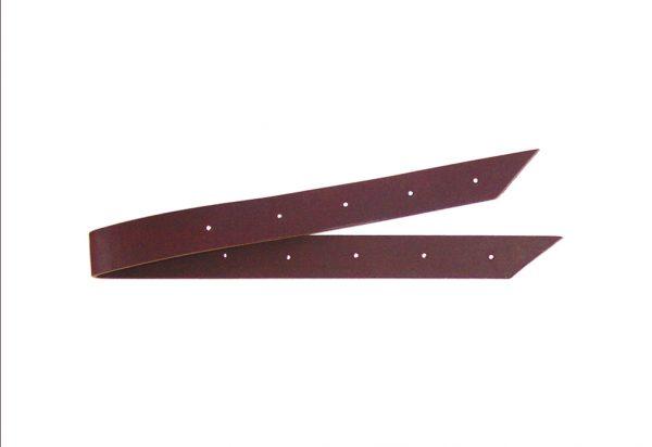 contre sanglons pour selle western côté court de couleur marron foncé