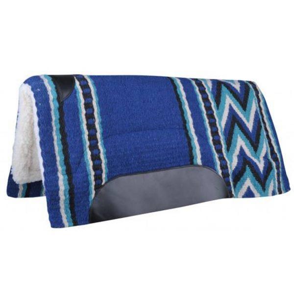 tapis-pad western avec motif couleur bleu