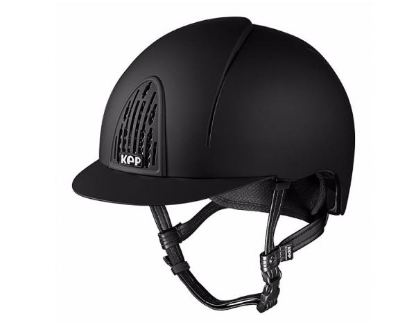 casque d'équitation noir modèle Smart de la marque Kep