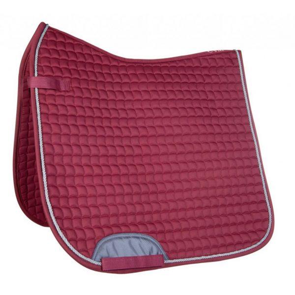tapis de selle Velluto de marque Cavalino Marino couleur framboise