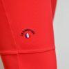 Pantalon Le Sabotier modèle Paloma couleur rouge vue détail logo