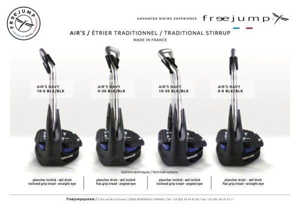 modèle gamme etriers air's de marque freejump