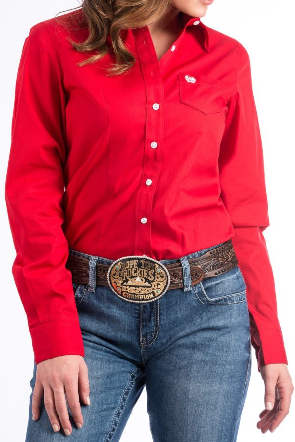 chemise western femme cinch rouge