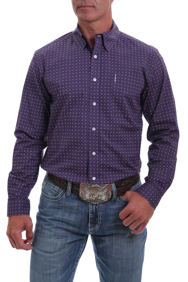 chemise western homme cinch violette