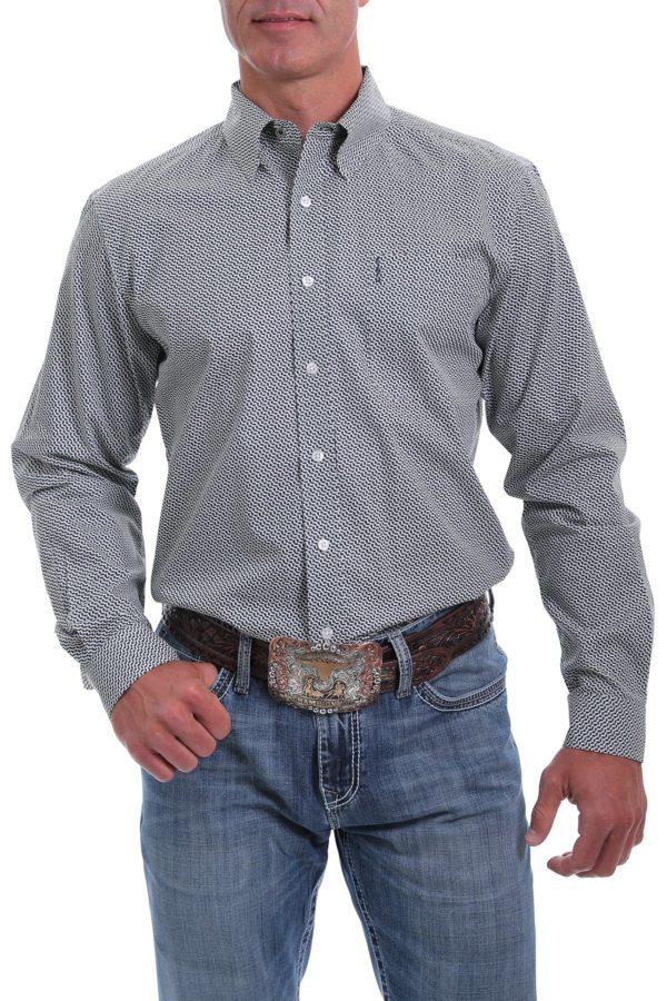 chemise équitation western cinch homme grise