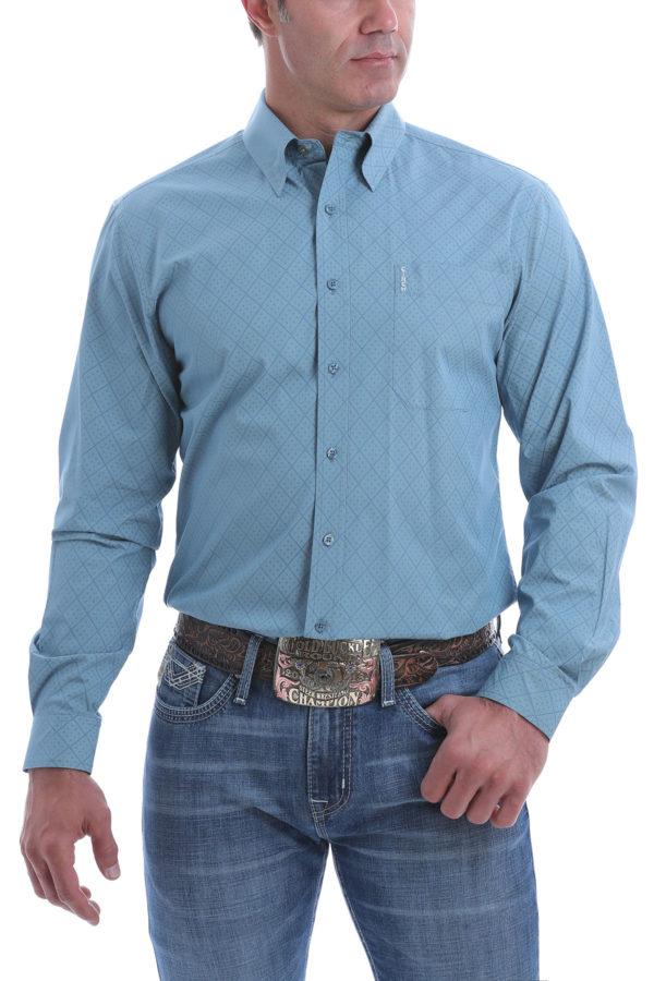 chemise equitation western homme cinch bleu ciel