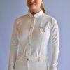 polo concours femme le sabotier pauline blanc manche longues